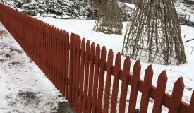Göteborg staket Stängsel roda