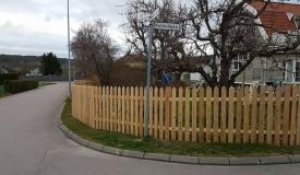 avstånd mellan staket stolpar