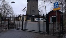 stängsel Gullmarsplan, Stockholm staket