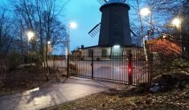 stängsel Gullmarsplan i Stockholm