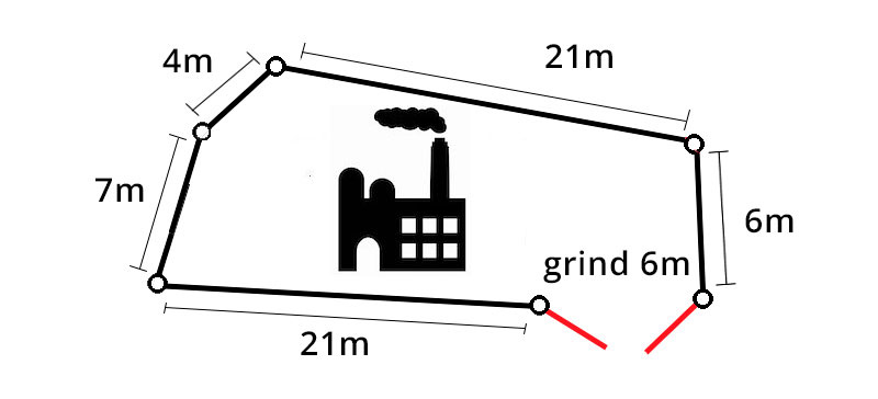 Industristängsel 3D